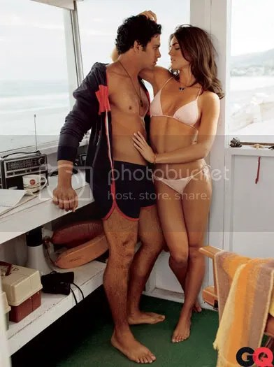 Sanchez got modeling tips from supermodel Hilary Rhoda on the shoot. I bet thats not all he got!