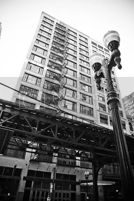 Downtown Chicago in Monochrome 2