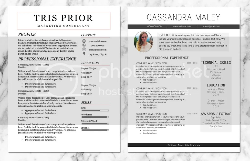 unique resume borders