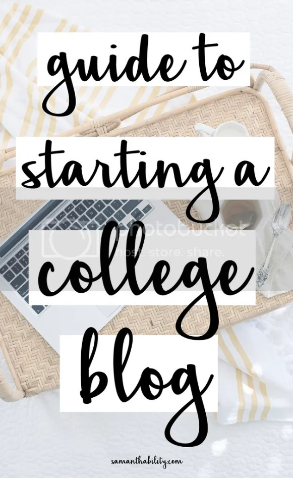 guide to starting a college blog easy step by step