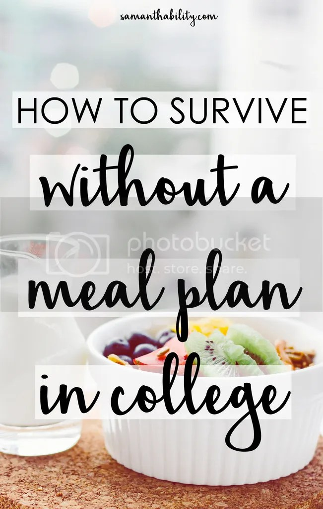 How to survive without a meal plan in college