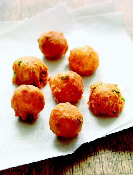 Mozzarella and Parmesan Fritters