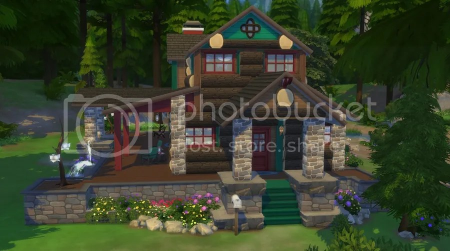 Tru Log Cabin Featuring Creations For The Sims 4