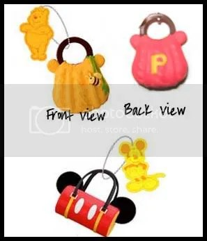 #WP006 – Disney Winnie & Mickey Handbag Emblem - S$2.00
