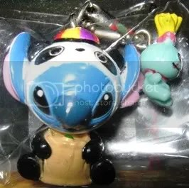 #LS070 – Stitch in Panda Suit & Scrump Keychain - $10