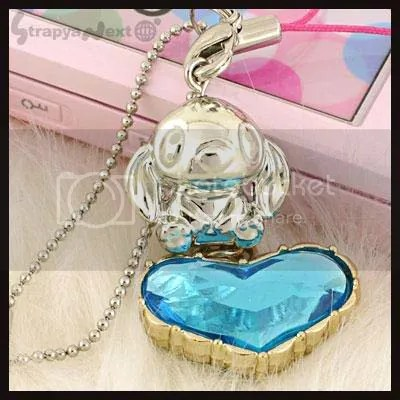 #LS017 - Stitch Jewel Heart Keychain - S$15.00