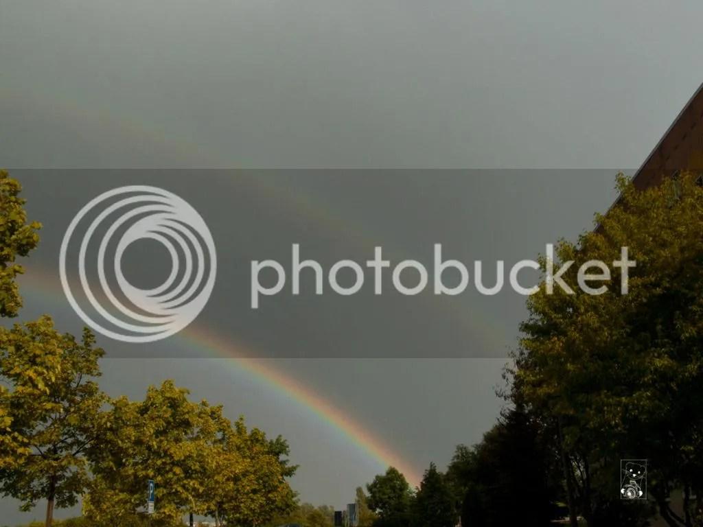 Double rainbow in Saxony, Germany