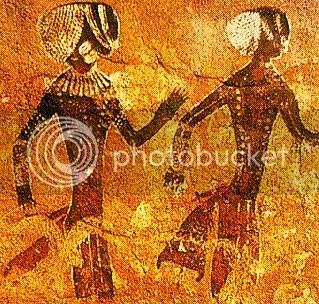 Pitture rupestri del Tassili.Dal gigantesco dio dei marziani ad Antinea. (2/6)