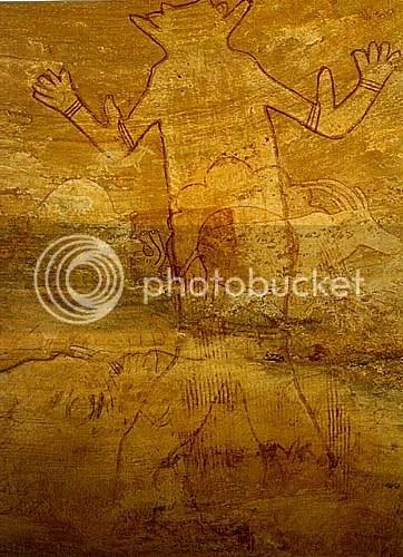 Pitture rupestri del Tassili.Dal gigantesco dio dei marziani ad Antinea. (6/6)