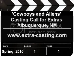 Cowboys and Aliens Extras Casting Call