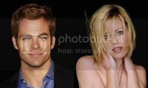 Chris Pine and Elizabeth Banks