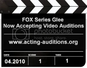 Glee Open Video Auditions MySpace