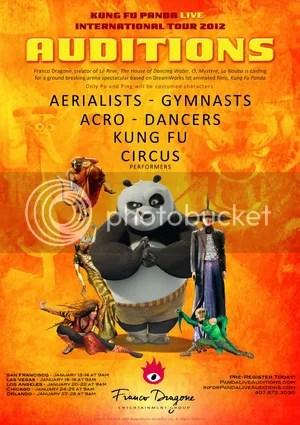 Kung Fu Panda Live Casting Calls