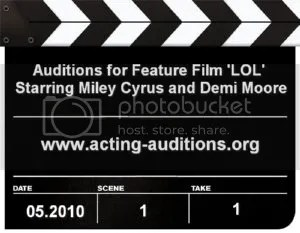 Miley Cyrus Demi Moore Feature Film LOL Auditions