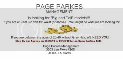 Big and Tall Male Model Call