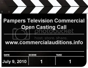 Pampers Commercial Open Casting Call