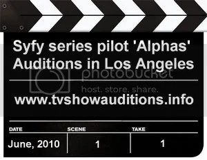 Syfy Alphas Auditions