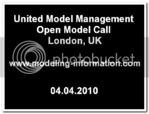 United Model Management open model call
