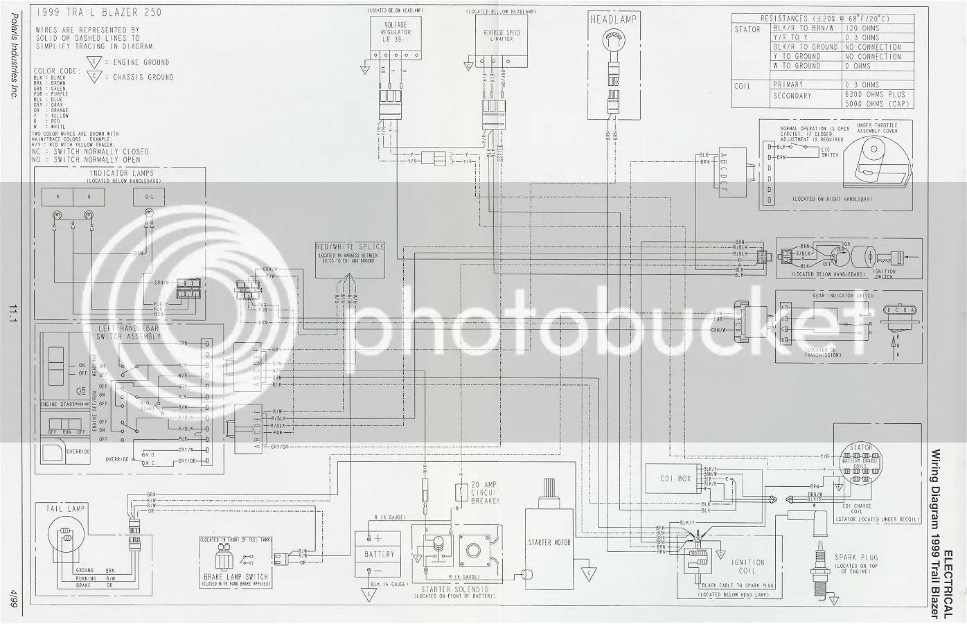 Polaris Atv Parts 1992 W927527 Trail Boss 2x4 Wiring Harness Diagram