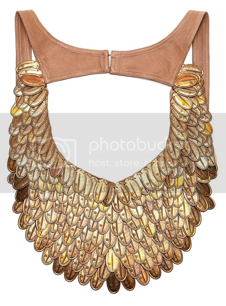 HauteHippie Coin Feather Bib