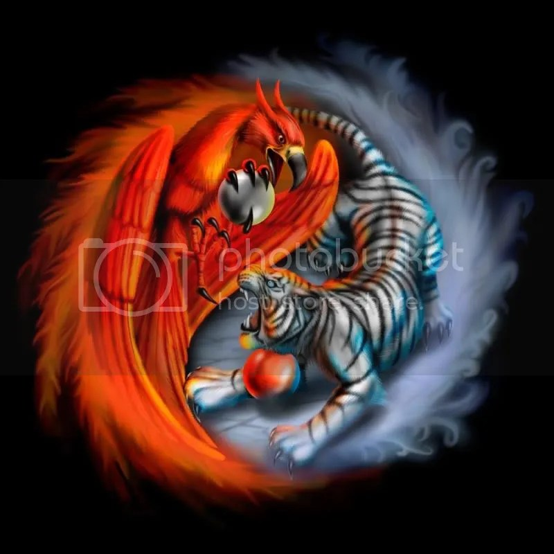bird and tiger ying yang
