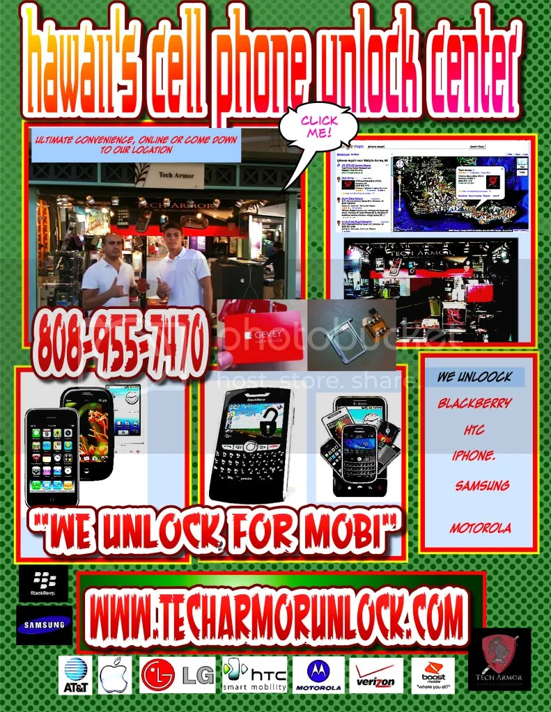 cell phone unlocking,tech armor,ala moana shopping center,blackberry,htc,samsung,iphone 4,jailbreak