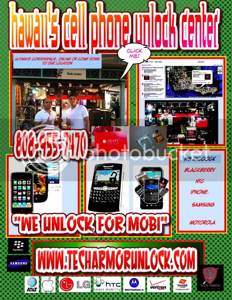 cell phone unlocking,tech armor,ala moana shopping center,blackberry,htc,samsung,iphone 4,jailbreak