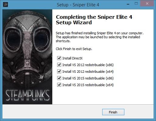 Sniper Elite 4 Deluxe Edition-STEAMPUNKS