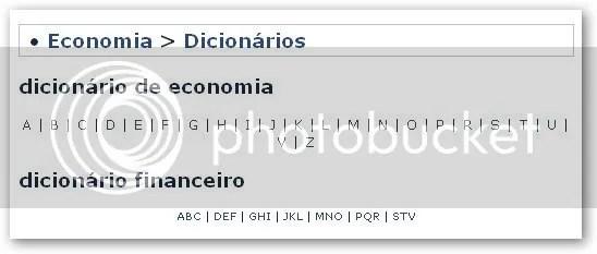dicionario economia financeiro