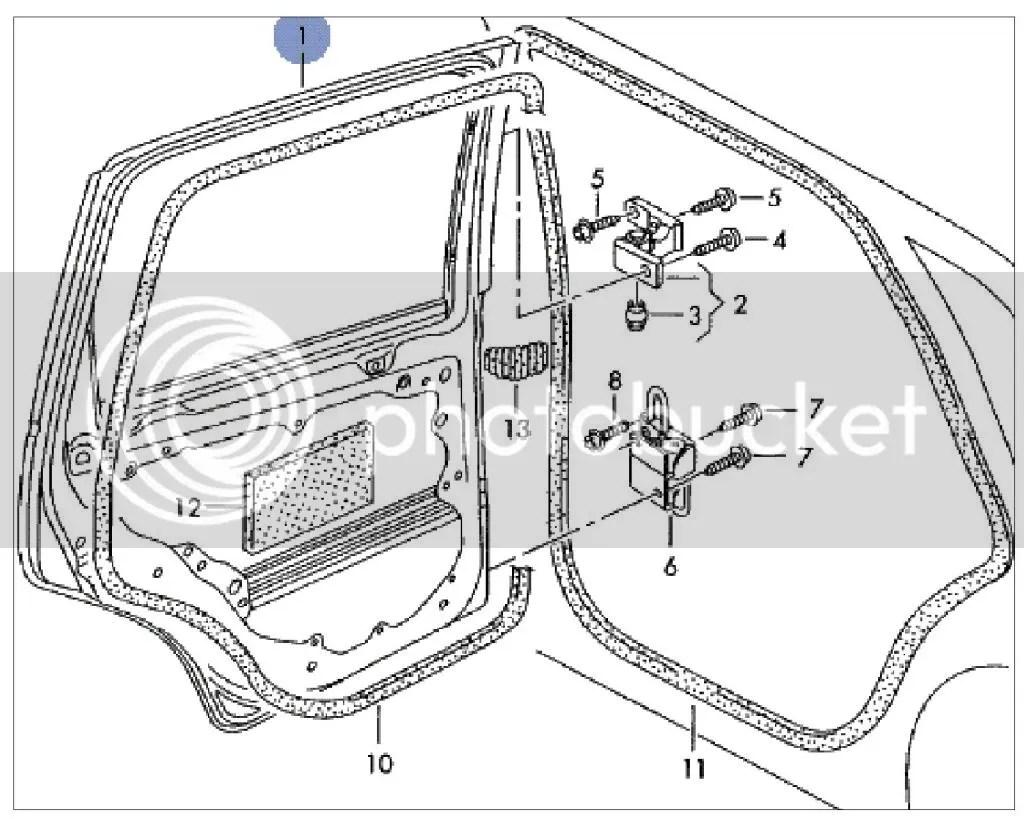 9n3 Passenger Side Rear Door Diagram