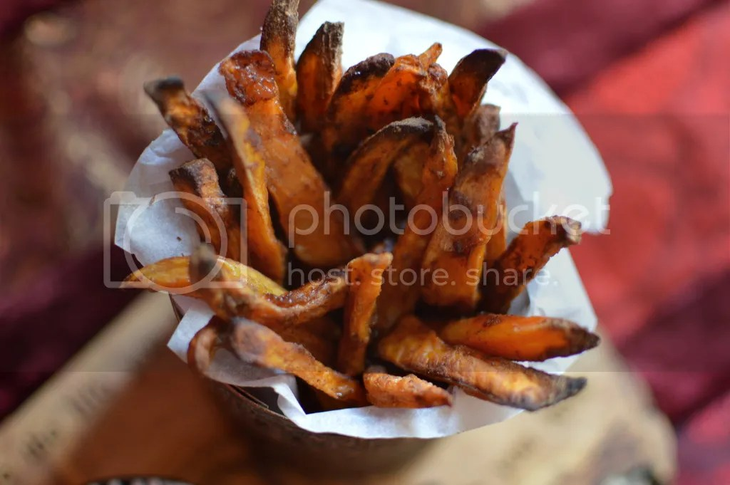 Cinnamon coconut sugar baked sweet potato fries
