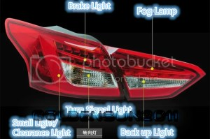 One pair LED Tail Lights LED Rear Lamps For 20122013 New
