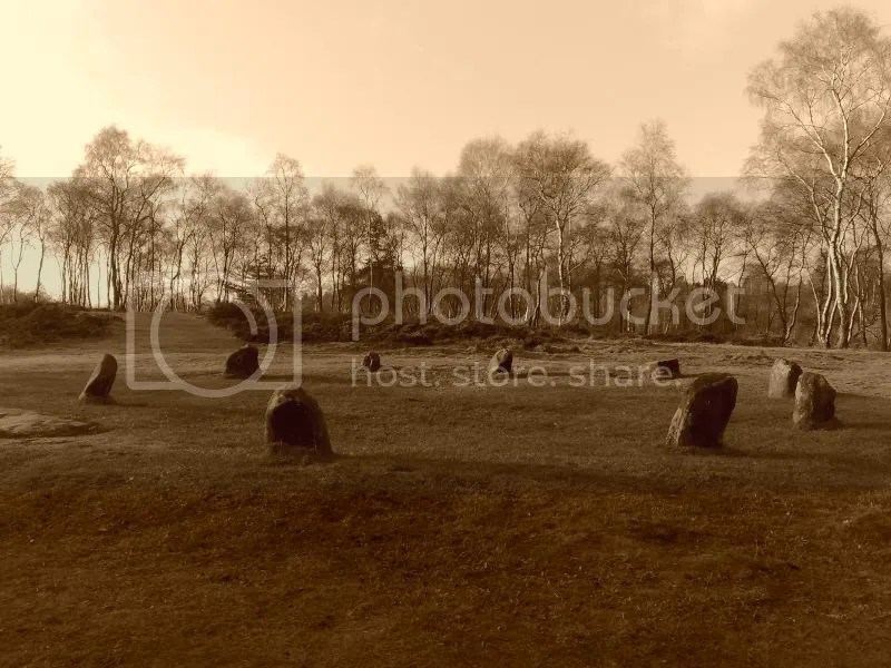 Nine Ladies Stone Circle - sepia