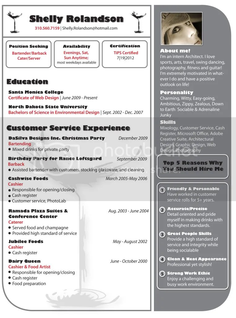 Resumes For Bartenders Example. Are Able To Back It Up Its Much
