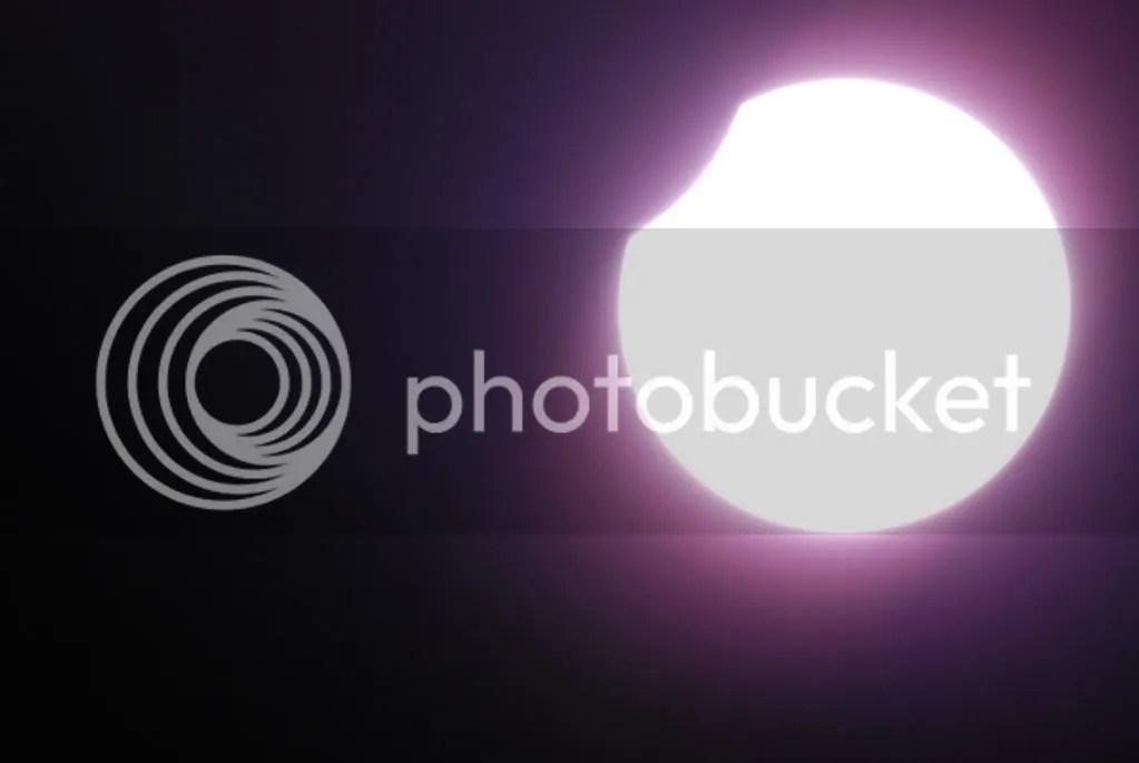 eclipsa soare prin telescop