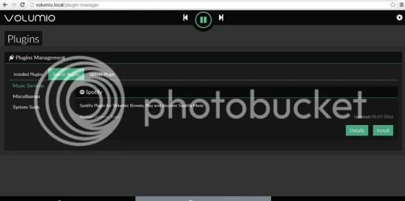 install spotify plugin