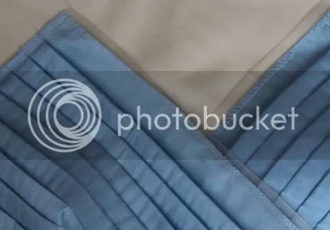 Dress top - the light fabric is the silk underlining
