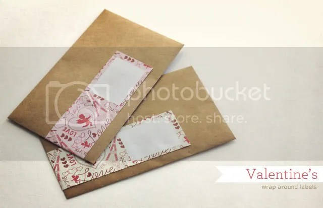 Valentines mail labels