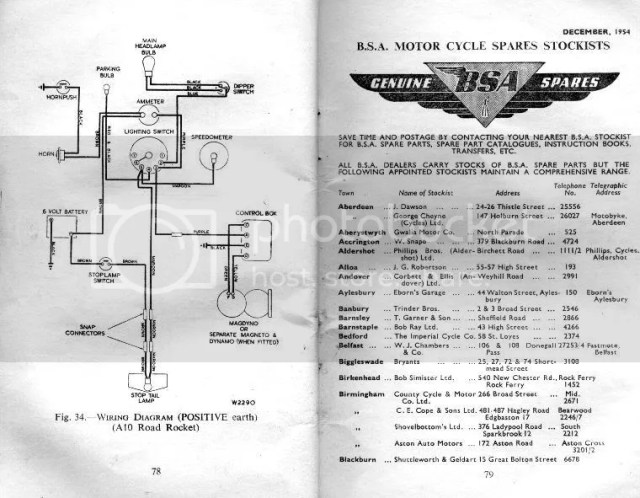 bsa a10 wiring diagram standard electrical