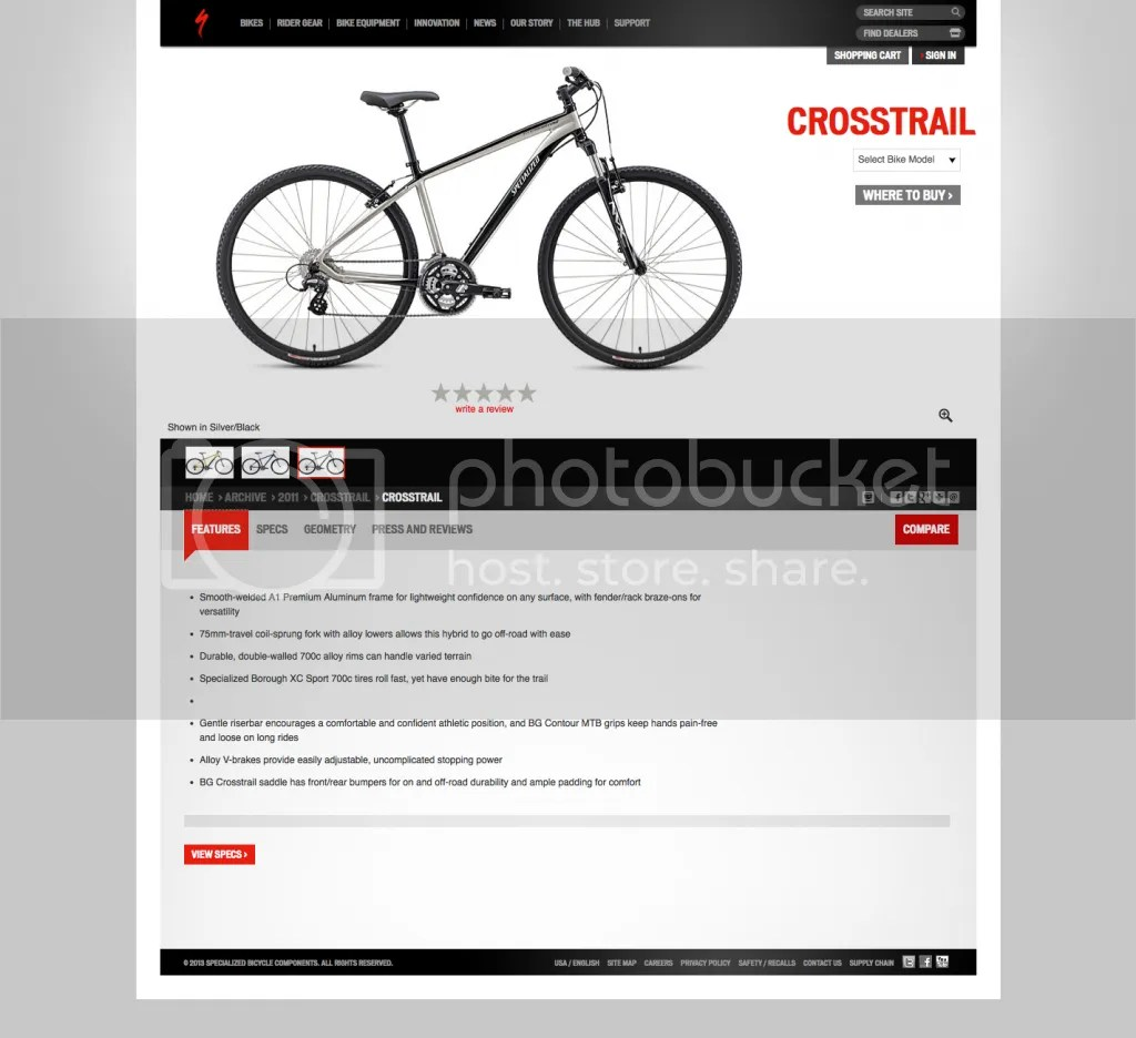 specialized crosstrail disc 2013