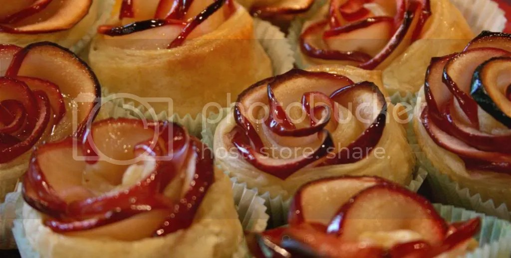 Rose Pastries All Together