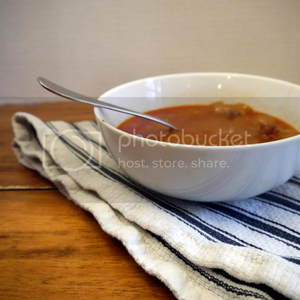 Photo (c) Catherine McClelland - Hungarian chicken heart gizzard stew in bowl