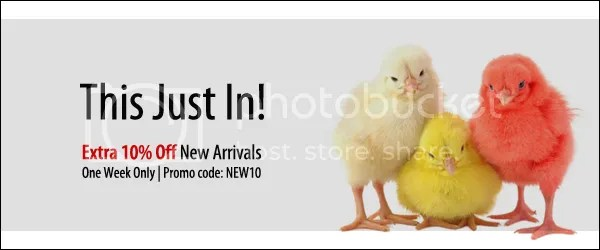 New Arrivals 10% Off