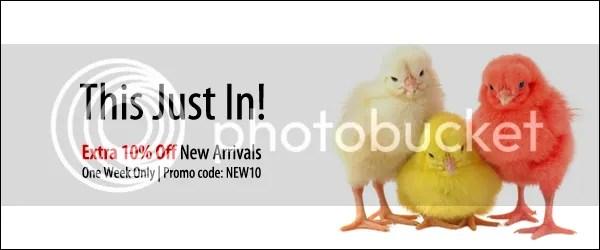 New Arrivals 10% Off