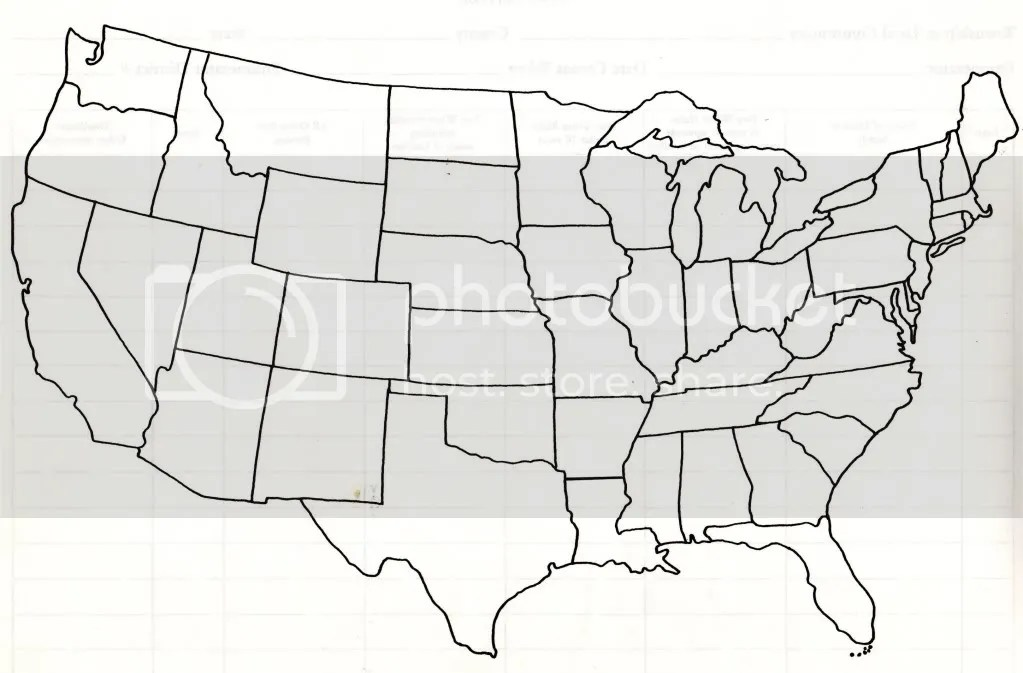 USA Outline For Tracking Family Movements Country Victorian Times - Usa outline