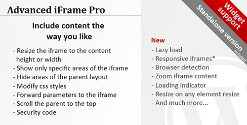 Advanced iFrame Pro v7.5 - WordPress Plugin product picture