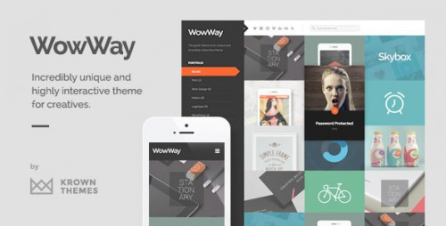 Nulled WowWay v2.1.3 - Interactive & Responsive Portfolio Theme product image