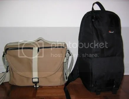Comparing the Domke F-803 (front) and Fastpack 100 (front)