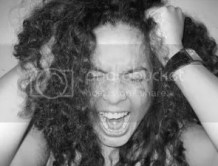 Girl pulling hair, screaming