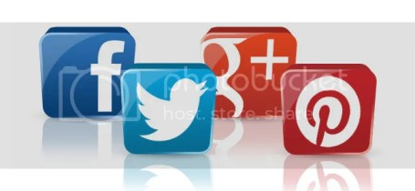 Facebook, Twitter, Google +, Pinterest, Icons